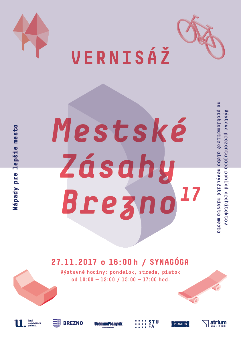 Vernisáž výstavy Mestské zásahy Brezno 2017